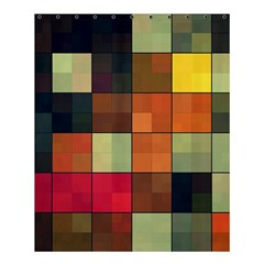 Background With Color Layered Tiling Shower Curtain 60  X 72  (medium)