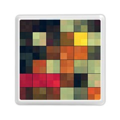 Background With Color Layered Tiling Memory Card Reader (square)