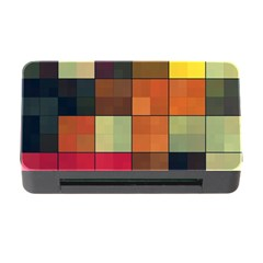 Background With Color Layered Tiling Memory Card Reader with CF