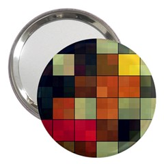 Background With Color Layered Tiling 3  Handbag Mirrors
