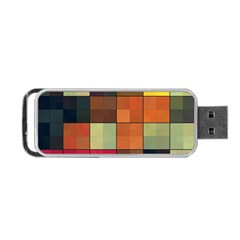 Background With Color Layered Tiling Portable USB Flash (One Side)