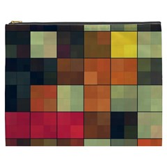 Background With Color Layered Tiling Cosmetic Bag (XXXL)