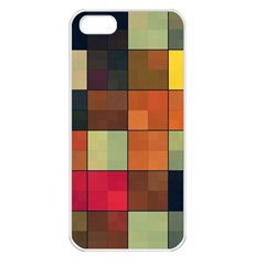 Background With Color Layered Tiling Apple iPhone 5 Seamless Case (White)