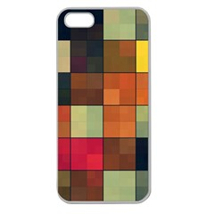 Background With Color Layered Tiling Apple Seamless Iphone 5 Case (clear)