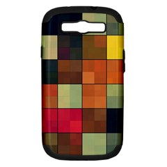 Background With Color Layered Tiling Samsung Galaxy S III Hardshell Case (PC+Silicone)
