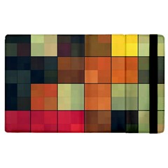 Background With Color Layered Tiling Apple iPad 3/4 Flip Case