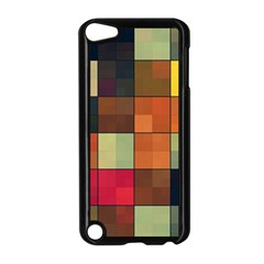 Background With Color Layered Tiling Apple iPod Touch 5 Case (Black)