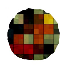 Background With Color Layered Tiling Standard 15  Premium Round Cushions