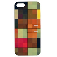 Background With Color Layered Tiling Apple iPhone 5 Hardshell Case with Stand