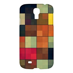 Background With Color Layered Tiling Samsung Galaxy S4 I9500/I9505 Hardshell Case
