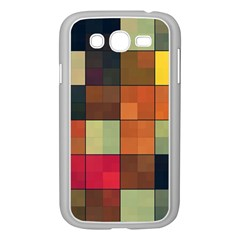 Background With Color Layered Tiling Samsung Galaxy Grand DUOS I9082 Case (White)