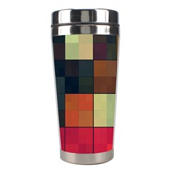 Background With Color Layered Tiling Stainless Steel Travel Tumblers