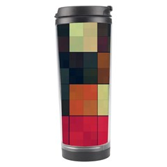 Background With Color Layered Tiling Travel Tumbler