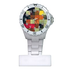 Background With Color Layered Tiling Plastic Nurses Watch