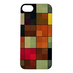 Background With Color Layered Tiling Apple iPhone 5S/ SE Hardshell Case