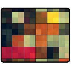 Background With Color Layered Tiling Double Sided Fleece Blanket (Medium)