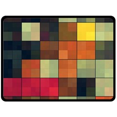 Background With Color Layered Tiling Double Sided Fleece Blanket (Large)