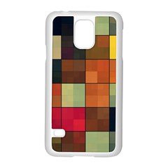 Background With Color Layered Tiling Samsung Galaxy S5 Case (White)
