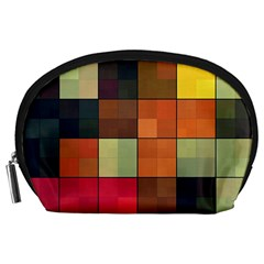 Background With Color Layered Tiling Accessory Pouches (large)