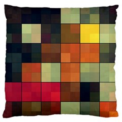 Background With Color Layered Tiling Large Flano Cushion Case (Two Sides)