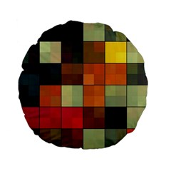 Background With Color Layered Tiling Standard 15  Premium Flano Round Cushions