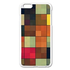 Background With Color Layered Tiling Apple Iphone 6 Plus/6s Plus Enamel White Case