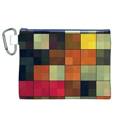 Background With Color Layered Tiling Canvas Cosmetic Bag (XL)
