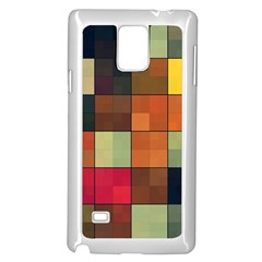Background With Color Layered Tiling Samsung Galaxy Note 4 Case (white)