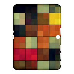 Background With Color Layered Tiling Samsung Galaxy Tab 4 (10 1 ) Hardshell Case