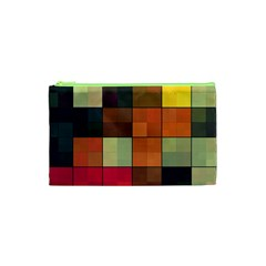 Background With Color Layered Tiling Cosmetic Bag (XS)