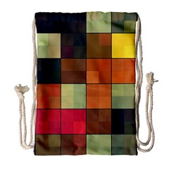 Background With Color Layered Tiling Drawstring Bag (large)