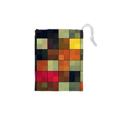 Background With Color Layered Tiling Drawstring Pouches (XS)