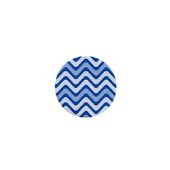 Background Of Blue Wavy Lines 1  Mini Buttons