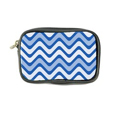 Background Of Blue Wavy Lines Coin Purse