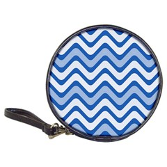 Background Of Blue Wavy Lines Classic 20 Cd Wallets