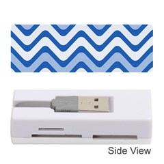 Background Of Blue Wavy Lines Memory Card Reader (stick)
