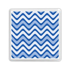 Background Of Blue Wavy Lines Memory Card Reader (square)