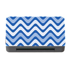Background Of Blue Wavy Lines Memory Card Reader with CF