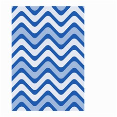 Background Of Blue Wavy Lines Small Garden Flag (two Sides)