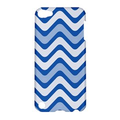 Background Of Blue Wavy Lines Apple iPod Touch 5 Hardshell Case