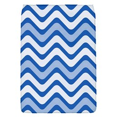 Background Of Blue Wavy Lines Flap Covers (S)