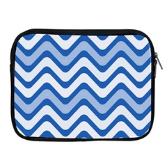Background Of Blue Wavy Lines Apple iPad 2/3/4 Zipper Cases