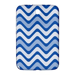 Background Of Blue Wavy Lines Samsung Galaxy Note 8.0 N5100 Hardshell Case