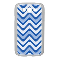 Background Of Blue Wavy Lines Samsung Galaxy Grand DUOS I9082 Case (White)