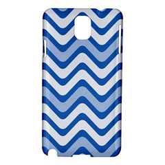 Background Of Blue Wavy Lines Samsung Galaxy Note 3 N9005 Hardshell Case