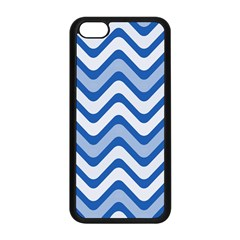 Background Of Blue Wavy Lines Apple iPhone 5C Seamless Case (Black)