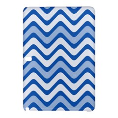 Background Of Blue Wavy Lines Samsung Galaxy Tab Pro 10.1 Hardshell Case