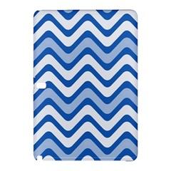 Background Of Blue Wavy Lines Samsung Galaxy Tab Pro 12.2 Hardshell Case