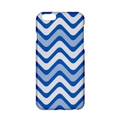 Background Of Blue Wavy Lines Apple Iphone 6/6s Hardshell Case