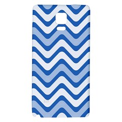 Background Of Blue Wavy Lines Galaxy Note 4 Back Case